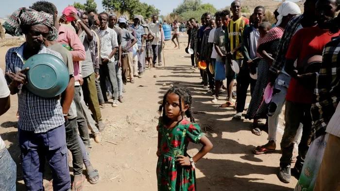 Displaced Ethiopians